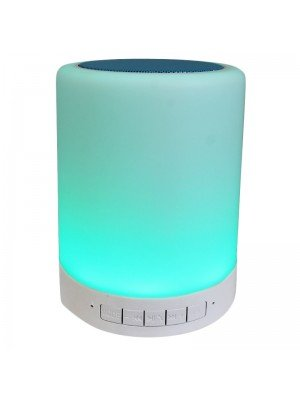 Wireless Bluetooth Touch Lamp Speaker - Blue