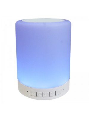 Wireless Bluetooth Touch Lamp Speaker - White