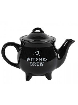 Wholesale Witches Brew Cauldron Black Ceramic Tea Pot