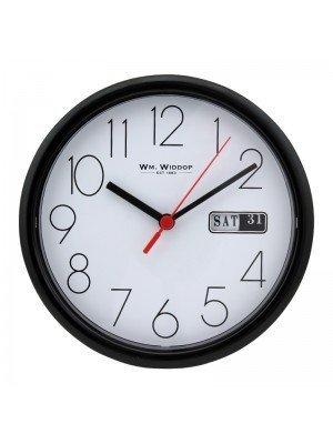 WM. Widdop Wall Clock - Black