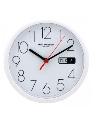 WM. Widdop Wall Clock - White