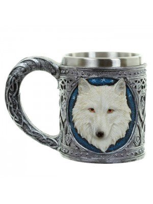 Wholesale White Wolf Tankard