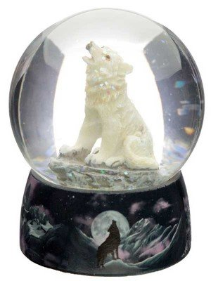 Wholesale Protector of the North Dreams on the Wind Wolf Snow Globe
