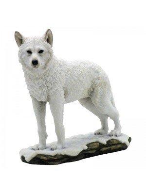 Wolf Figurine Winter Spirit - 23cm