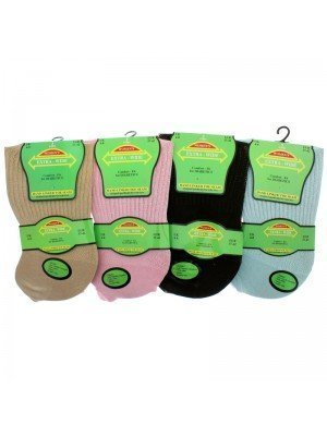 Women's Extra-Wide Diabetic Socks - Assorted Colours (4-8)