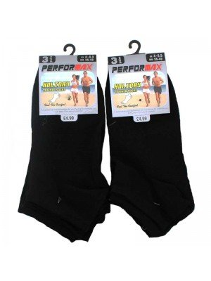Womens Trainer Socks - Black UK 4-6.5