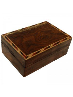 Wholesale Wooden Box with Bordered Pattern