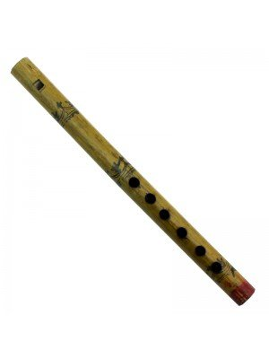 Wooden Printed Flute 27 cm