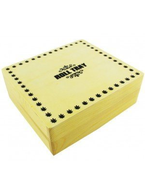 Wholesale Roll Tray Wooden R-Box - Large