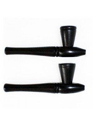 Wooden Tobacco Smoking Pipe- Black 10 cm