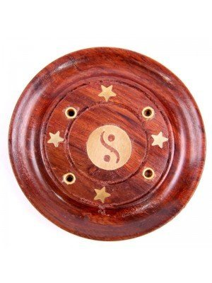 Wooden Ash Catcher - Yin Yang Inlay