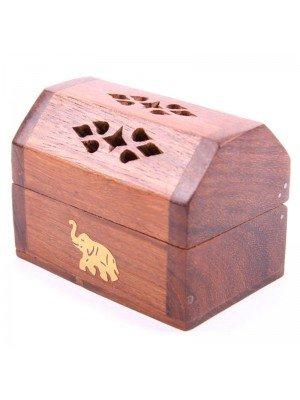 Wooden Elephant Design Incense Holder - 3