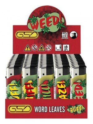 """Wholesale GSD Electronic """"World Leaves"""" Design Refillable Lighters"""