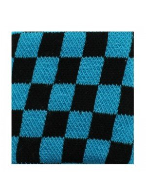 Wrist Sweatbands Chequered Black & Blue