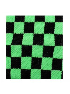 Wrist Sweatbands Chequered Black & Neon Green