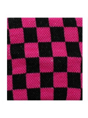 Wrist Sweatbands Chequered Black & Neon Pink