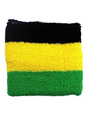 Wholesale Wrist Sweatbands - Jamaica Colours