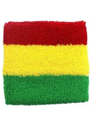 Wholesale Wrist Sweatbands - Rasta Colours