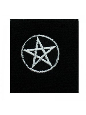 Wrist Sweatbands White Pentagram Design