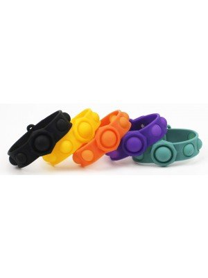 Push & Pop Bubble Fidget Wristbands - Assorted Colours
