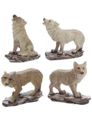 Wholesale Protector of the North Ghost Walker Wolf Figures
