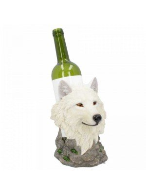 Wholesale Snow Guide - Wolf Wine Bottle Holder - 19.7cm