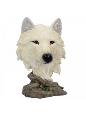 Wholesale Snow Searcher - Wolf Head Figurine - 16cm