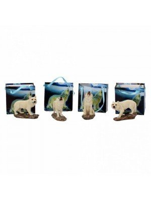 Wholesale White Wolf Pack Figurines - 6cm