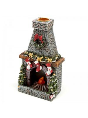 Wholesale Christmas Fireplace Backflow Incense Burner