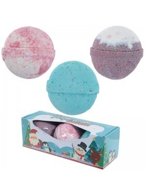 Wholesale Jingle Smells Set of 3 Christmas Bath Bombs