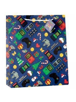 Christmas Game Over Gift Bag - Extra Large