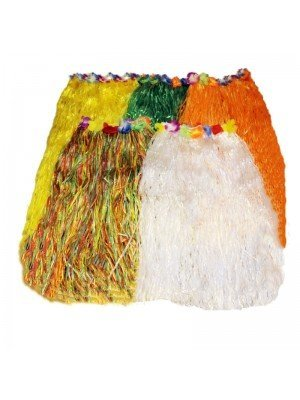 Hula Hawaiian Skirt Assorted Colours (80cm)