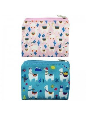 Wholesale Alpaca Print Zip Purse - Assorted Designs