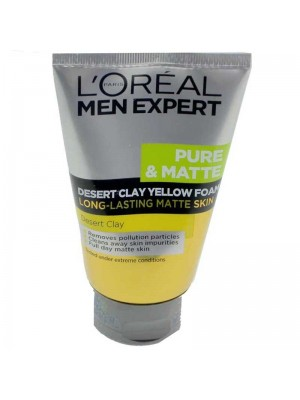 Wholesale Loreal Paris Men Expert Desert Clay Yellow Foam Face Wash-100ml