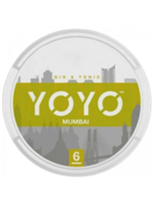 Wholesale YOYO Mumbai Tobacco Free Nicotine Chew Bags - Gin & Tonic (6mg)
