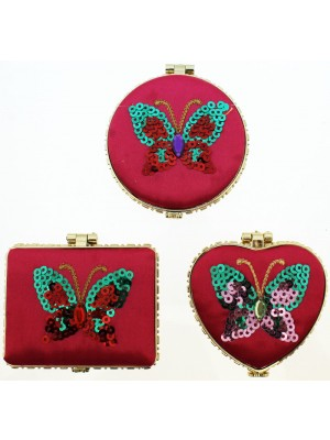 Yunya Butterfly Compact Mirror (Assorted Colours)