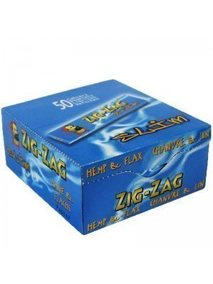 Wholesale Zig Zag Blue King Size Slim Rolling Papers - 50 booklets