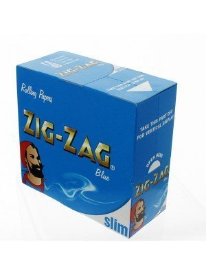 Zig Zag Blue Slim Rolling Papers- 50 booklets
