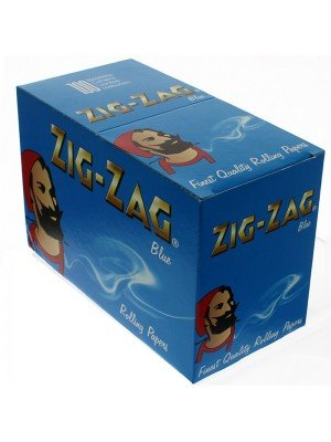Zig Zag Blue Standard Rolling Papers 100 Booklets
