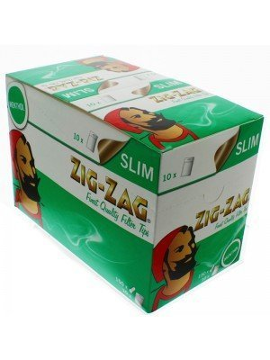 Wholesale Zig Zag Resealable Slim Filters - Menthol 1500 Tips