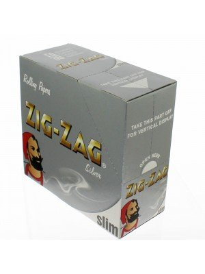 Zig Zag Silver Slim Rolling Papers  50 booklets