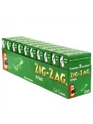 Whlolesale Zig Zag Green Cut Corners Finest Quality Rolling Papers