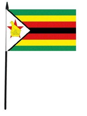 """Zimbabwe Hand Flag - 12"""" x 18"""""""