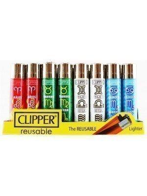 "Clipper Flint Reusable ""Zodiac Elements"" Design Lighters - Assorted"
