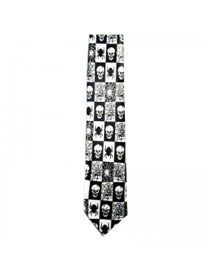 Wholesale Tie With Spider and Skull