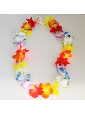 Hawaiian Flower Lei Garland Flashing Necklace