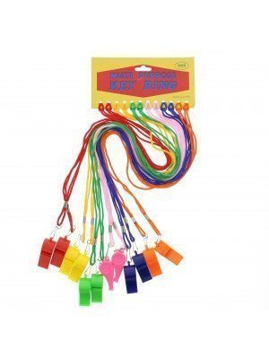 Wholesale Whistles On Bright Coloured Cords