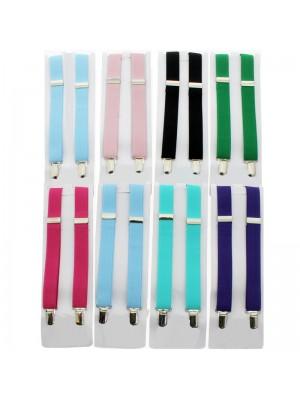 Children's Braces Plain Bright Colours Assortment (25mm)