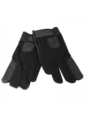 Unisex Leather & Nylon Driving / Motor Bikers Gloves