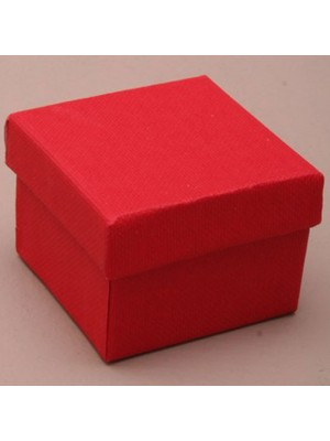 Square Gift Box Red(5x 5x 3.5cm)